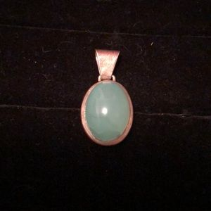 Sterling Silver/Green Stone Pendant